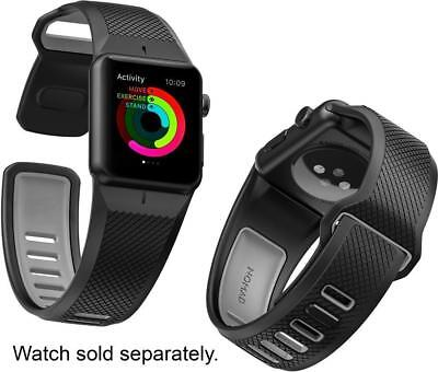 Nomad - Sport Watch Strap for Apple Watch42mm - Slate gray on black