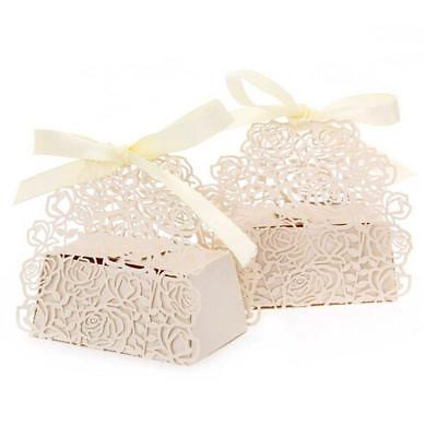 PONATIA 50 PCS Roses Flowers Candy Box di nozze Holders cioccolato...