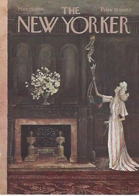 COVER ONLY The New Yorker magazine ~ March 19 1966 ~ PETTY ~ Broken call cord