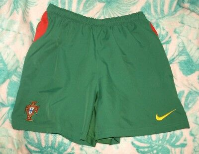 NIKE Portugal Youth Large Football/Soccer Lined Shorts boys/teens green home