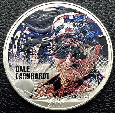 2001 Silver American Eagle Dale Earnhardt 1 Troy oz .999 silver Coin (0833)