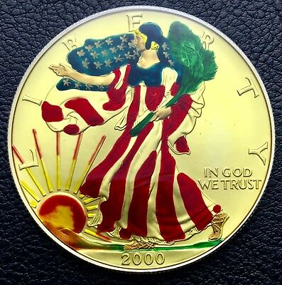 2000 Silver American Eagle Colorized 1 Troy oz .999 silver Coin (0833-3)
