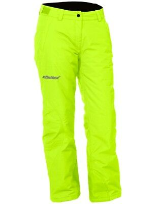 Castle X Womens Bliss Waterproof Snowmobile Winter Snow Board Pant Hi-Vis Yellow