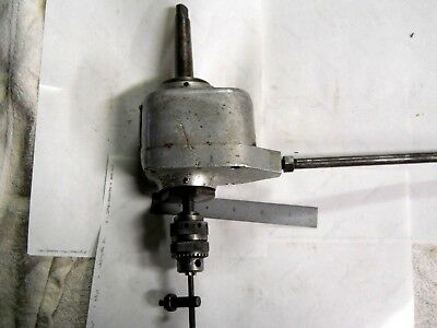 "Usa Made Jarvis Type O C 1/4"" Cap. Tapping Head With Jacobs  #255 Chuck"