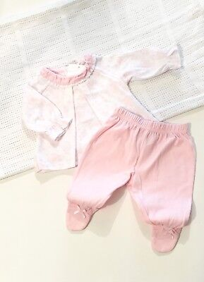 Traditional Spanish Style Baby Girls Pink Two Piece Floral Outfit by Mintini