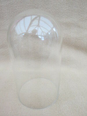 Vintage Glass Clock Dome 18.5Cm High 10.5Cm In Diameter.