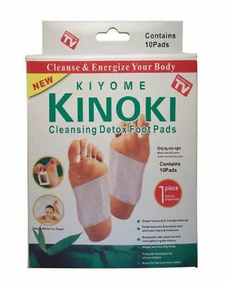 Kinoki Detox Foot Patches 10 Pads Body Toxins Feet Slimming Cleansing Herbal