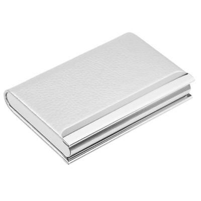 Business Card Holder Name Cards Case Stainless Steel Credit ID Wallet White