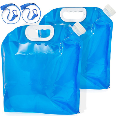 Lukey's 2-Pack Collapsible Water Container Storage 5 Litre