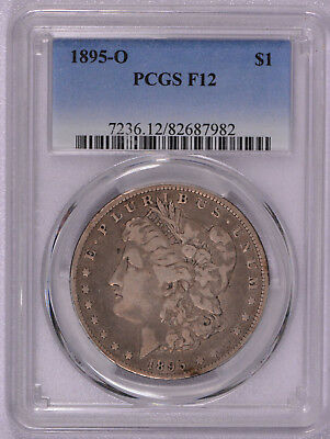 1895 O Morgan Silver Dollar, PCGS  graded Fine 12 Semi Key Date!