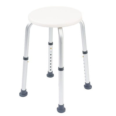 NRS Healthcare Round Shower Stool L97718 Height Adjustable (Eligible for VAT rel