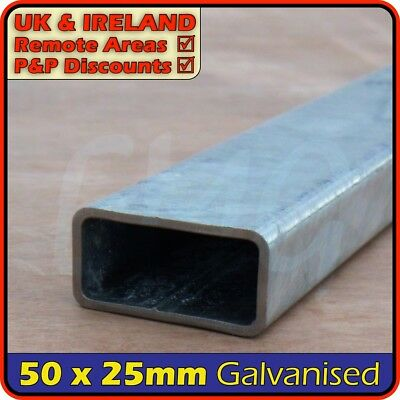 Galvanised Steel Rectangular Tube ║ 50 x 25 mm ║ box section iron,profile,tubing