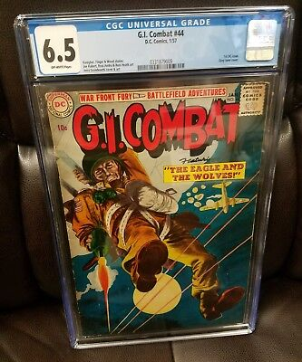 G.i. Combat #44, Cgc 6.5  (Jan 1957, Dc) 1St Dc Issue, Grey Tone Cover !!!!!!!!!