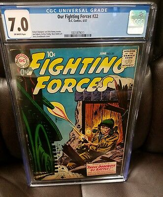 OUR FIGHTING FORCES #22, CGC 7.0  (Jun 1957, DC) SILVER AGE WAR