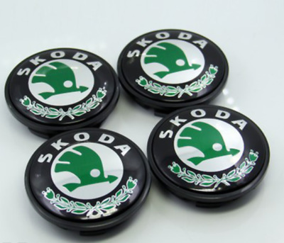 4PCS NEW 65MM SKODA Car Case Caps Cover Wheel Emblem Hub Center