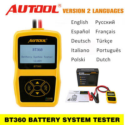 Car Battery Tester Lead-acid Battery Cranking Charging Analyzer 2000CCA 30-220AH