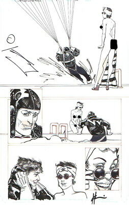 Howard Chaykin 2009 Dominic Fortune Original Art-Poolside Lady! Free Shipping!