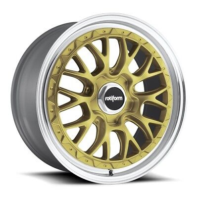 19x8.5/10 Rotiform LSR R156 5x112 +35 Gold Rims (Set of 4)