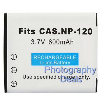 Replacement for Casio NP-120 NP120 NP-120DBA Battery for Exilim EX-S200PK EX-Z