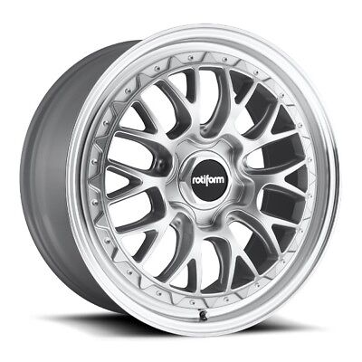 19x10 Rotiform LSR R155 5x112 +35 Silver Machine Rims New Set