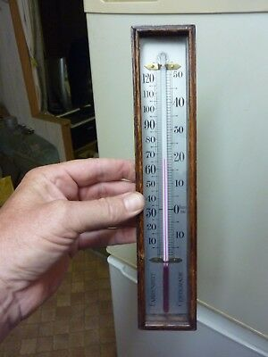 Good Old  Barometer Thermometer & Box (A)