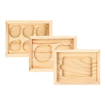 1/2/6 Holes Wood Coins Display Storage Box Collectible Case Container Holder