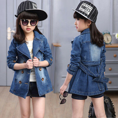 Toddler Kids Girls Jeans Jacket Outdoor Travel School Denim Jacket