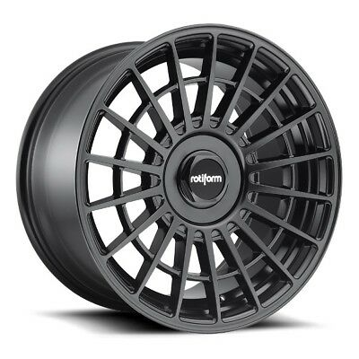 20x8.5 Rotiform LAS-R R142 Blank +35 Matte Black Rims New Set