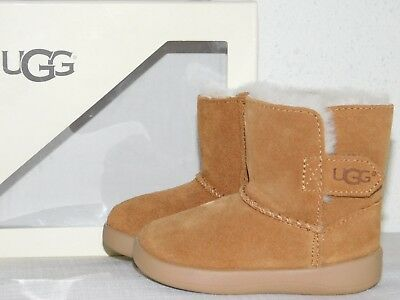aabca62bbf8 New Boys Girls Infant Baby 2/3 Small Ugg Chestnut Keelan Suede Boots Booties