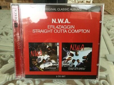 Efil4zaggin / Straight Outta Compton By N.W.A (CD, 2007, 2 CD-Set) Ice Cube Dre