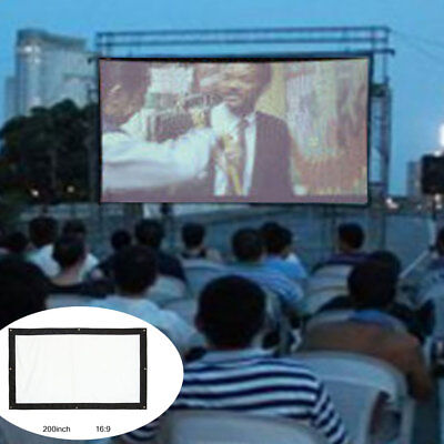 "200""inch Canvas Projector Screen 4:3 16:9 Outdoor Cinema Portable + Storage Bag"