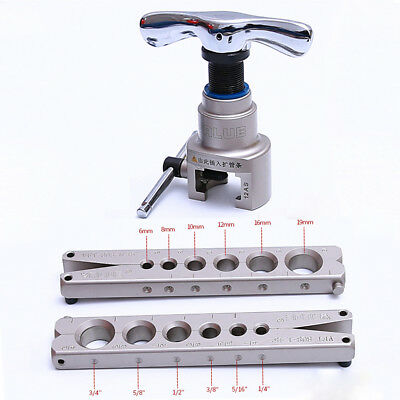 "Eccentric Flaring Tool For 1/4"" - 3/4"" and 6 - 19mm Refrigeration HVAC 45 degree"