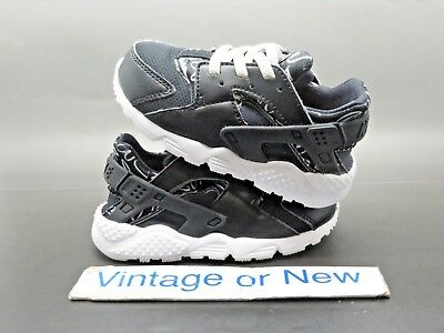 9238a99a1f02 Girls  Nike Air Huarache Run Print Black White Running Toddler 2016 sz 7C