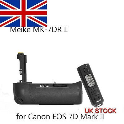 Meike MK-7DR II Battery Grip+ 2.4G Remote Control for Canon 7D Mark II As BG-E16