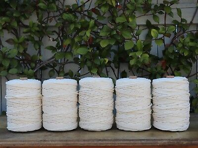 macrame rope 5mm 700m 5kg  string cord cotton 3 strand twisted natural beige