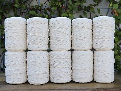 macrame cord 4mm 2400m 10kg string rope cotton bulk wholesale natural beige
