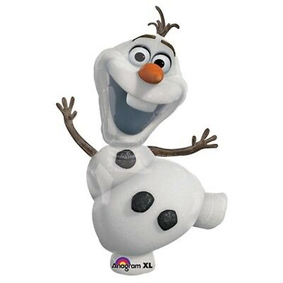 "Disney Frozen Party Supplies 41"" Olaf Jumbo Super Shape Anagram Foil Balloon"