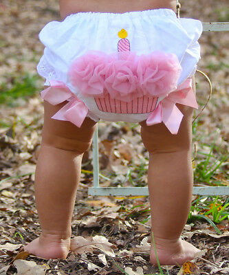 UK Toddler Baby Girls Lace Ruffle Bloomer Nappy Underwear Panty Diaper Cover