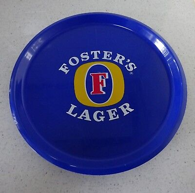Vintage Round Fosters Lager Beer Tray Melamine Serving Bar Drinks