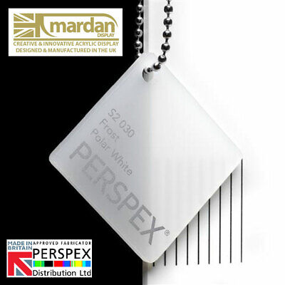 Acrylic Perspex® Polar White Frost Cut Sheets - Cut Panels
