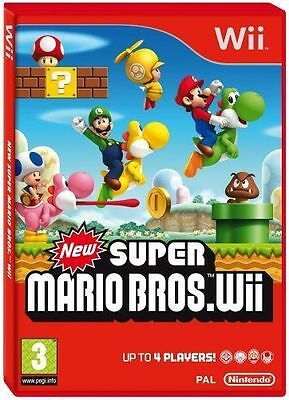 NEW SUPER MARIO BROS Wii NINTENDO Wii GAME - 1st Class Delivery