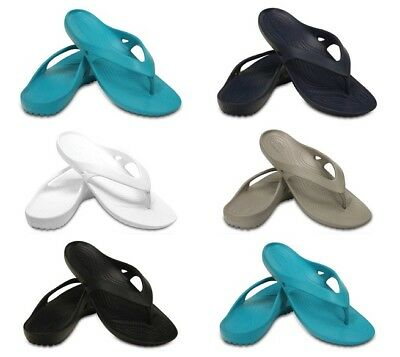 fc38f35d5b6b04 Crocs Womens Kadee Flip Flops Summer Beach Ladies Sandals Soft Pool Thong  Black