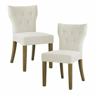 Fantastic Tufted Back Dining Chair Set Of 2 Avila Taupe 228 51 Ocoug Best Dining Table And Chair Ideas Images Ocougorg