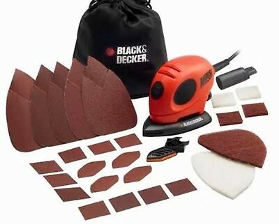 10 x BLACK AND DECKER MOUSE SANDING SHEETS – PALM SANDER – WITHOUT TIPS