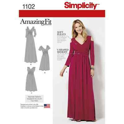 SIMPLICITY SEWING Pattern 1102 Misses & Plus Size Amazing Fit Dress ...