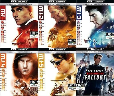 Mission Impossible 1,2,3,4,5,6 (M:I)(Ghost, Rogue, Fallout)(4K Ultra HD)(UHD)