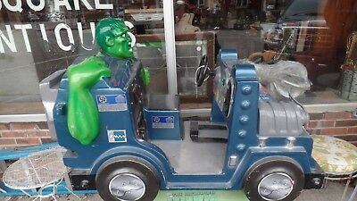 The Hulk coin-op kiddie ride;works; no key; local pick up only