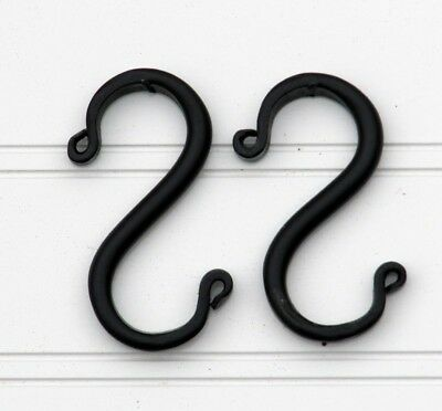 Amish forged black wrought iron S hooks - Set of 2 Mini - Sturdy & Strong metal