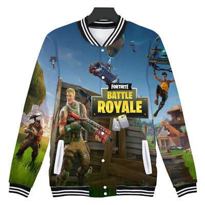 3D Sweatshirt Fortnite Print Baseball Uniform Unisex A