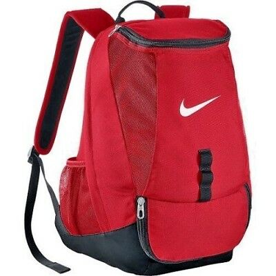 Nike Running Backpack Swoosh Club Team Football Training Sports Gym Travel Red